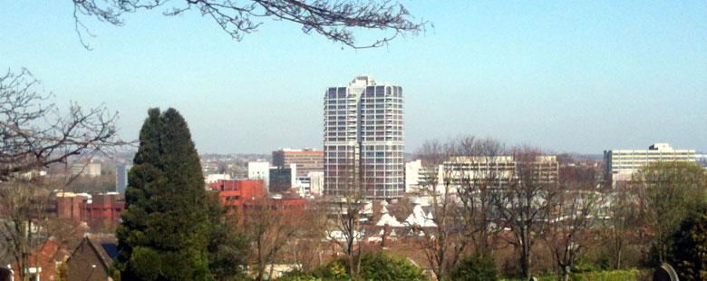 Swindon city skyline