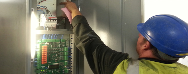 engineer fixing a lift