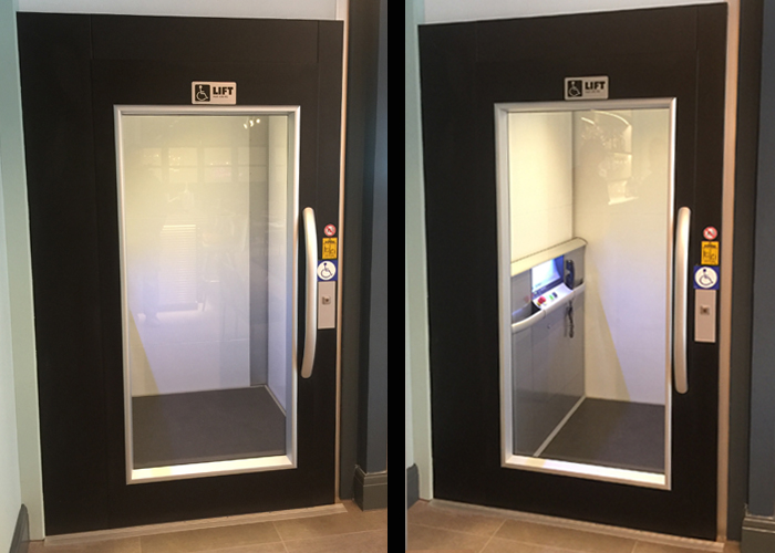 Image of new disabled lift