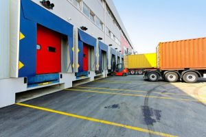lorry backing up to a Dock Leveller loading bay