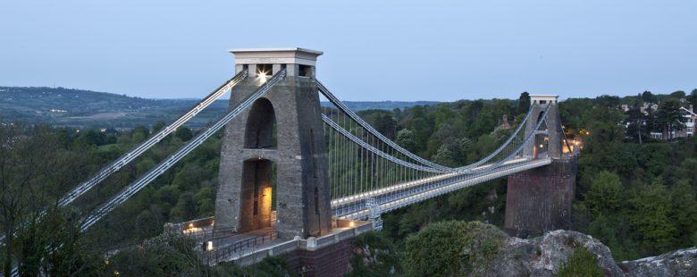Clifton Suspension Bridge, Avon Gorge, the city of Bristol