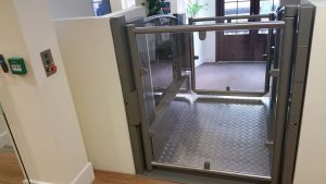step lift installed in hospital building 3