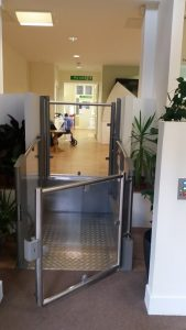 step lift installed in hospital building 2