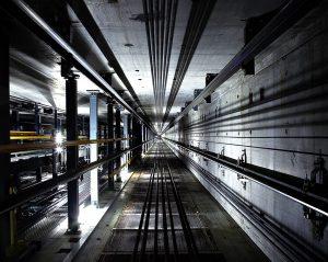rj lift looking down lift shaft