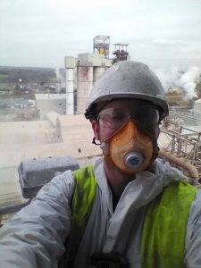 rj_lift engineer wearing helmet and face mask