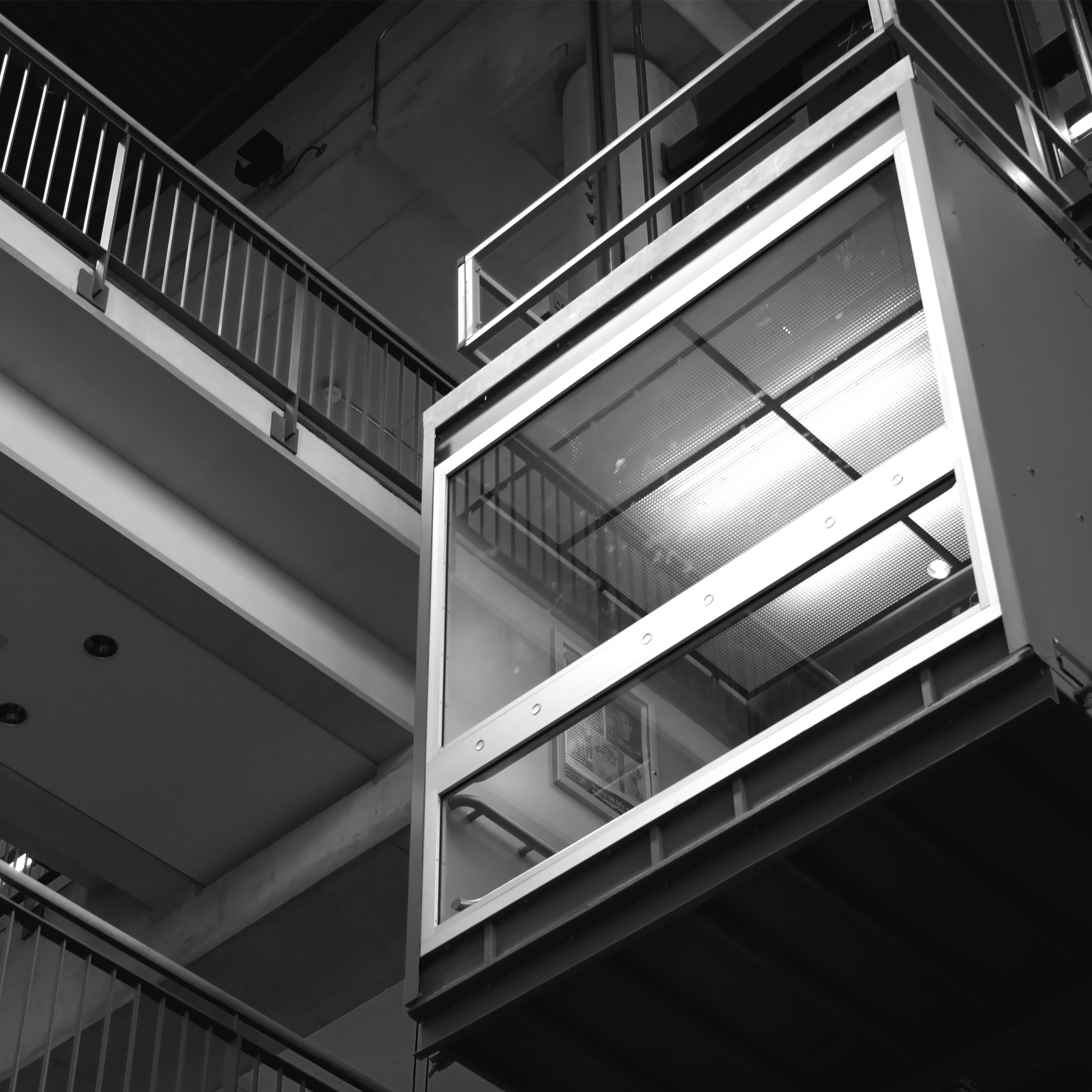 black and white lift modernisation