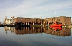 Albert Dock buildings warehouses Liverpool, England