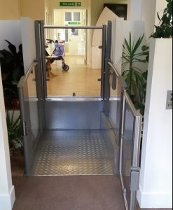 step lift for people with physical disabilities