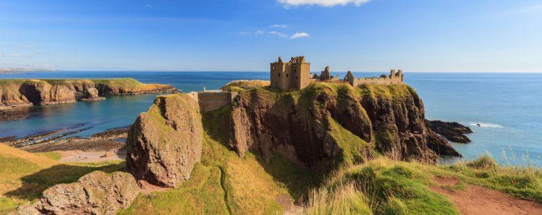 Dunnottar Castle in Aberdeen, scotland