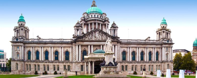 Belfast City Hall in Ulster, day time