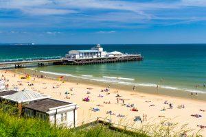 Sunbathing at Bournemouth Beach