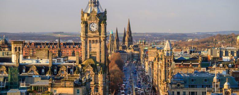 city view edinburgh scotland