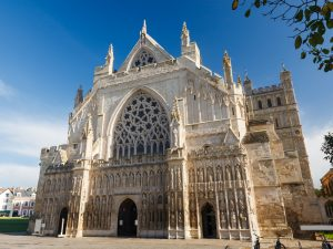 Exeter Cathedral in Devon England