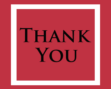 red and black thank you card