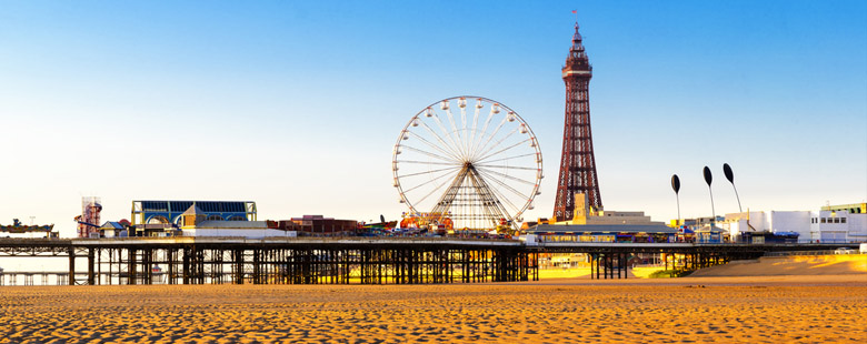 Blackpool Tower and Central Pier Ferris Wheel, Lancashire