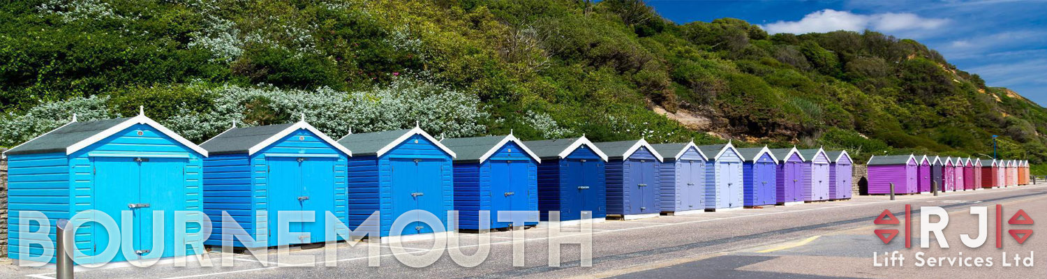 The Changing sheds on Bournemouth Beach
