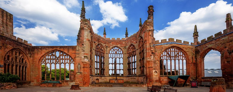 Ruins of old Cathedral in Coventry