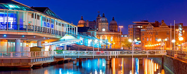 Hull at night