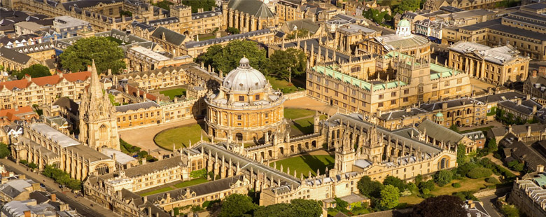 Oxford aerial view