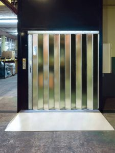 Goods Only Lift With folding doors from R J Lifts