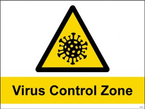 Covid19 Virus Control Zone Sign - RJ Lifts