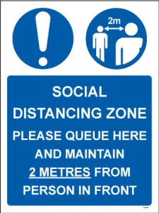 Social Distancing Zone PVC Sign - RJ Lifts