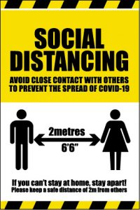 Social Distancing Vinyl Sign - RJ Lifts