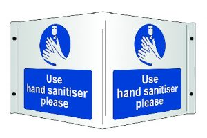 Use hand sanitiser covid19 safety sign - RJ Lifts