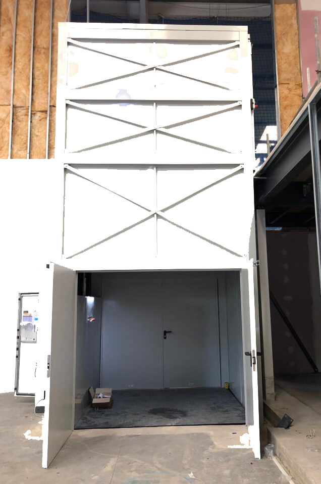 Newly Installed Goods Lift front