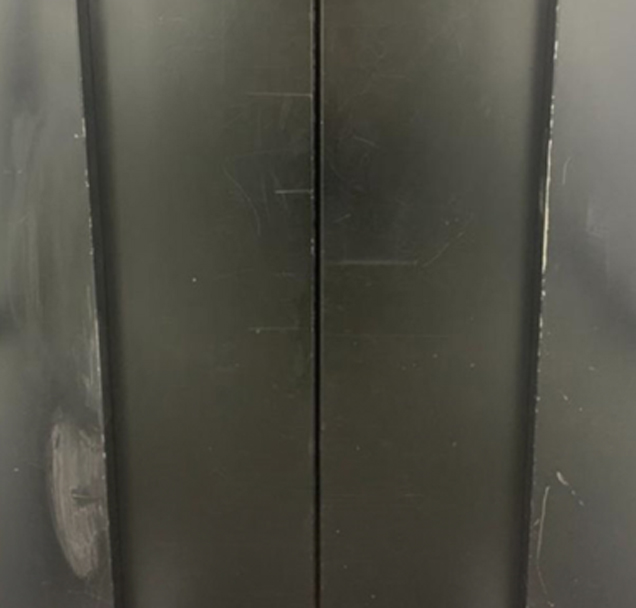 Damaged lift door