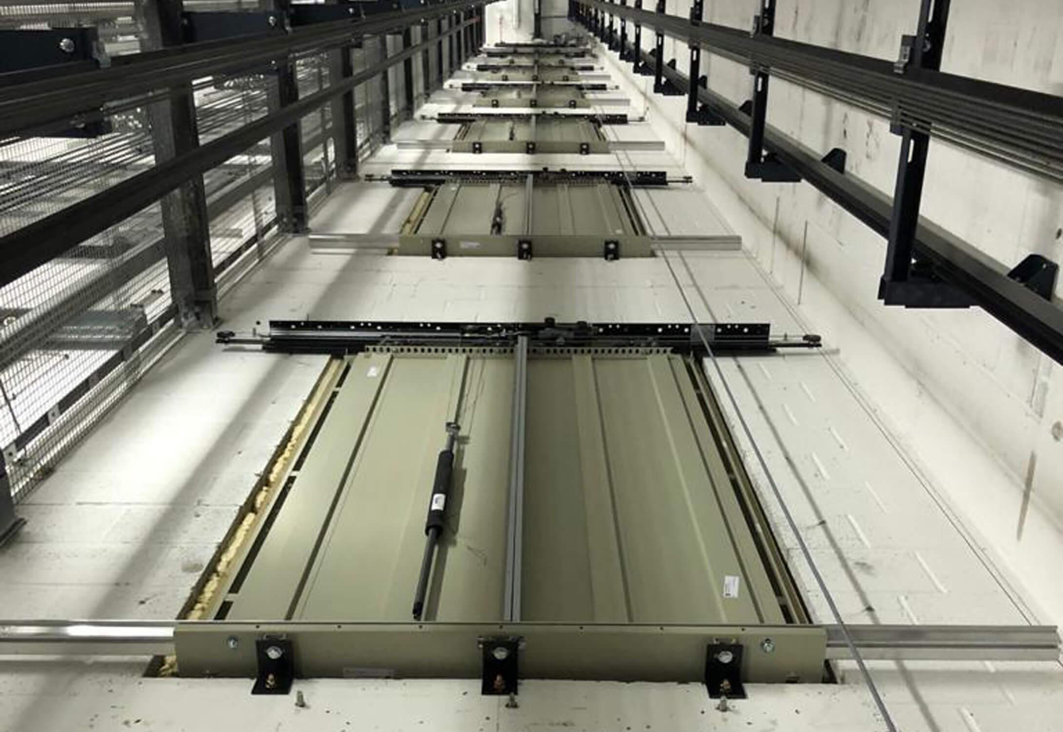 Lift shaft of a university passenger lift