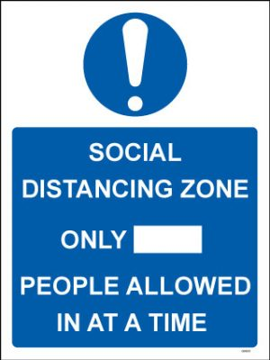 Social Distancing People Allowed In PVC Sign - RJ Lifts